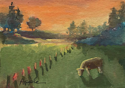 Sunset On The Farm by Linda Apple