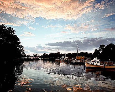 Sunset on the Harbour by Karen Fowler