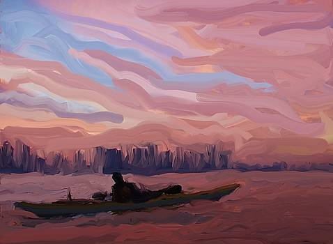 Sunset on the Hudson by Harry Spitz