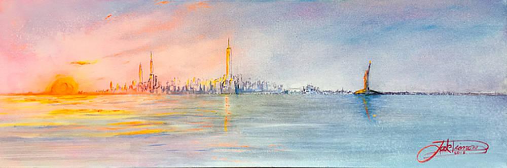 Sunset On The Hudson  by Jack Diamond