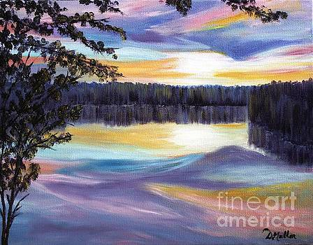 Sunset on the Lake by Donna Muller