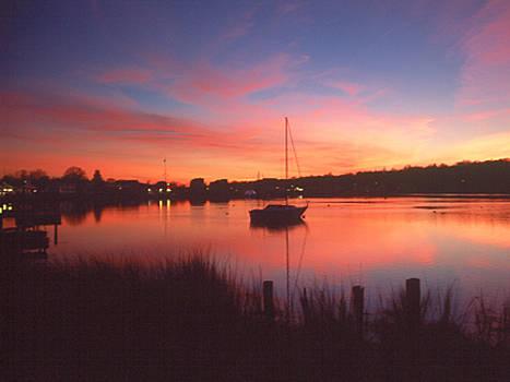 Sunset on the Lake Landscape by Jennifer Ferrier