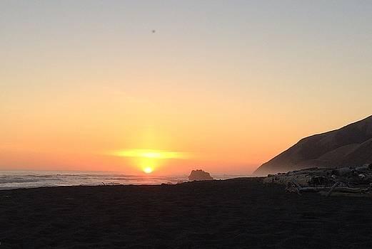 Sunset on the Lost Coast, California by William Sullivan