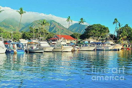 Sunset on the Marina Lahaina Harbour Maui Hawaii by Sharon Mau