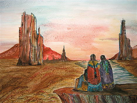 Sunset on the Mesa by K Hoover