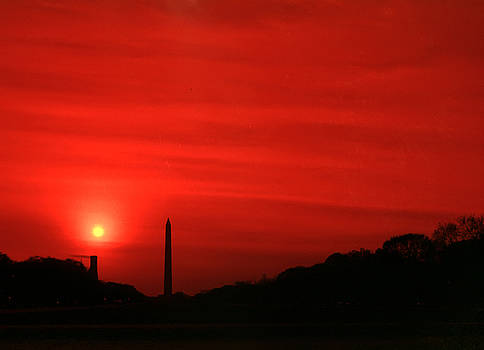 Sunset on the National Mall Washington DC by Thomas Marchessault