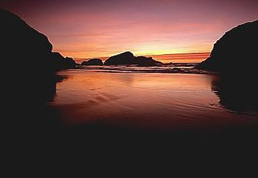 Sunset On The Oregon Coast by Floyd Bond