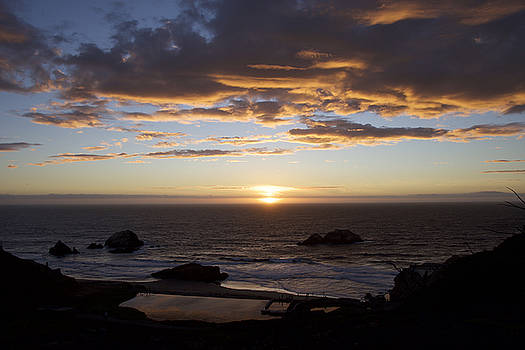 Sunset on the Pacific by Chris Alberding