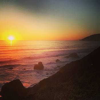 Sunset on the Pacific Coast Highway - Westport Beach by William Sullivan