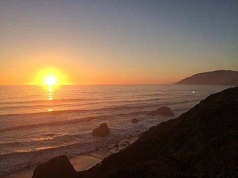 Sunset on the PCH by William Sullivan