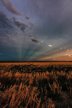 Sunset on the Plains by Alan Anderson