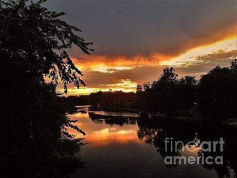 Sunset On The River            Autumn            Indiana by Rory Cubel