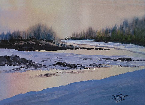 Sunset On The River by Diane Ellingham