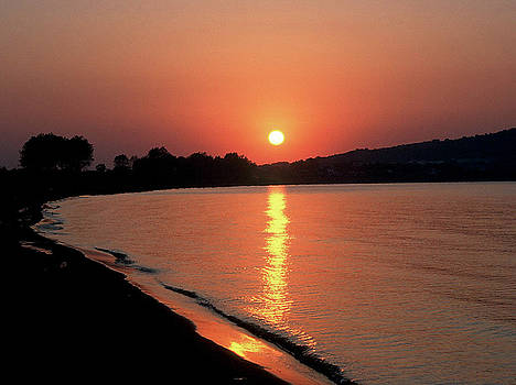 Sunset on The River by Subesh Gupta