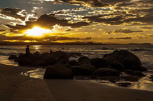 Sunset on the Rocks by Barbara Dudzinska