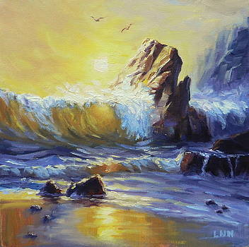 Sunset on the Rocks by Ningning Li