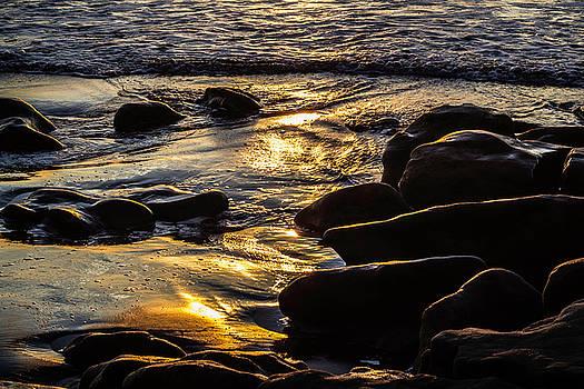 Sunset on the Rocks by Randy Bayne