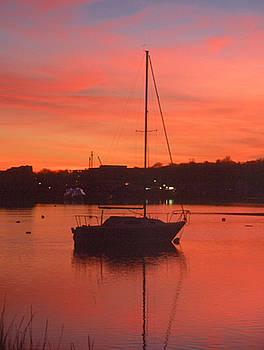 Sunset on the Sailboat by Jennifer Ferrier