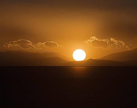 Sunset On The Salar by Ron Dubin
