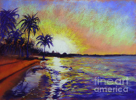 Sunset on the Sea by Lisa Crisman
