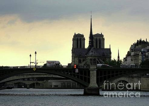 Sunset on the Seine by Taikan by Taikan Nishimoto