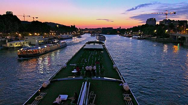 Sunset on the Seine by Rick Macomber