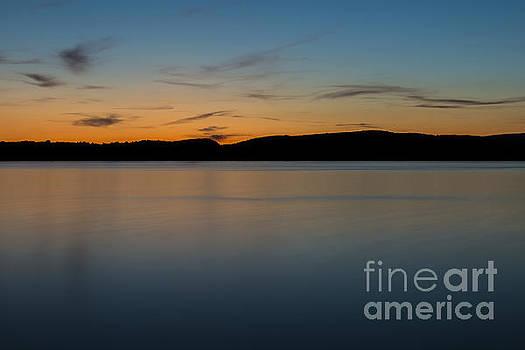 Sunset on Upper Herring Lake by Brian Mollenkopf