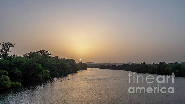 Sunset Over Austin Texas River by PorqueNo Studios