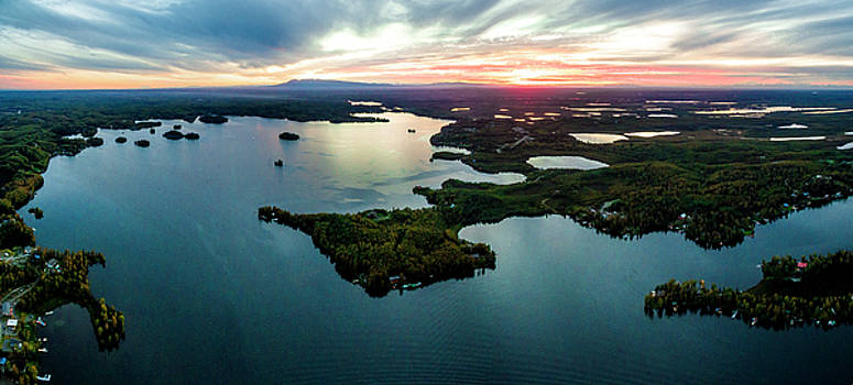 Sunset Over Big Lake by Kyle Lavey