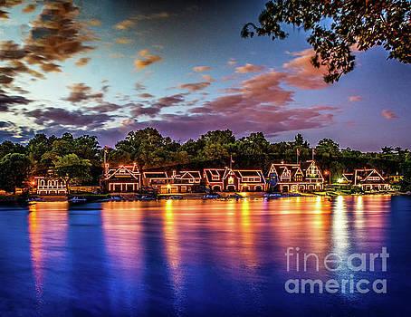 Sunset Over Boathouse Row by Nick Zelinsky
