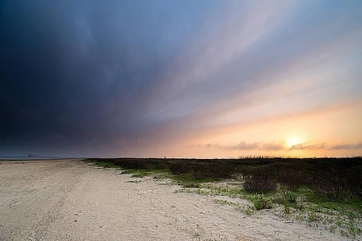 Ellie Teramoto - Sunset Over Bolivar Flats - Texas