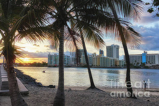 Sunset Over Condado by George Oze