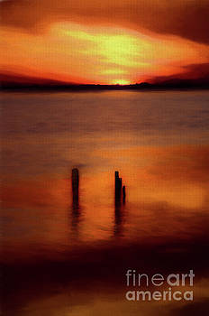 Dan Carmichael - Sunset Over Currituck Sound AP