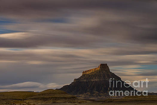 Sunset over Factory Butte by Keith Kapple
