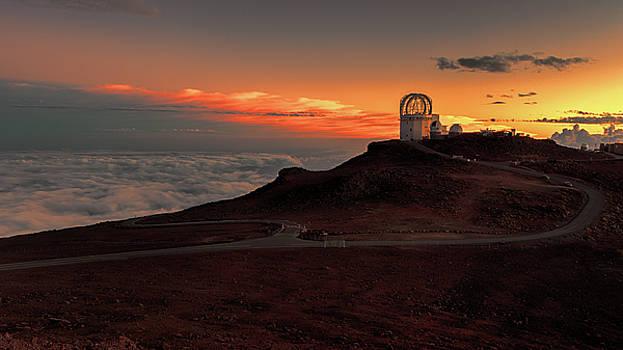 Susan Rissi Tregoning - Sunset Over Haleakala Observatory