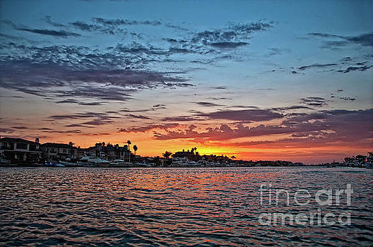 Sunset over Huntington Harbour by Peter Dang