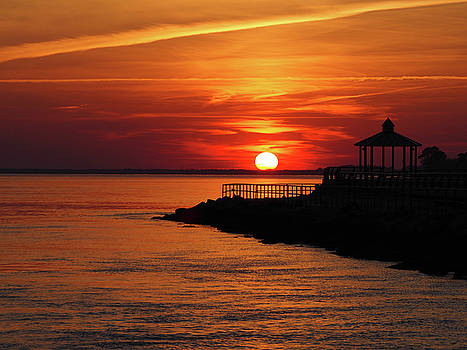 Sunset Over Indian River Inlet and Bay by Bill Swartwout