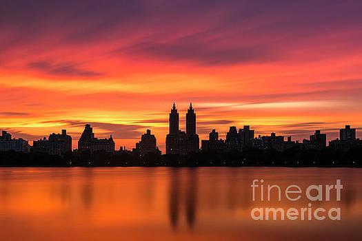 Sunset Over Jackie O by Randy Lemoine
