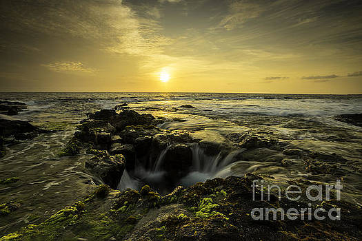 Sunset over Kona All Proceeds Benefit Hospice of the Calumet Area by Joanne Markiewicz