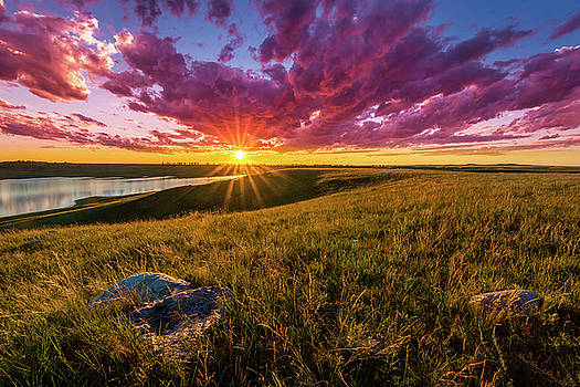 Sunset over Lake Oahe by Andy Crawford