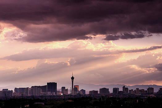Sunset Over Las Vegas by Lon Watkins