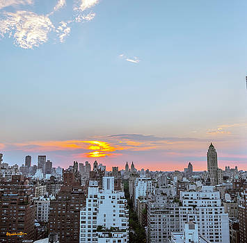 Sunset Over Manhattan by Madeline Ellis