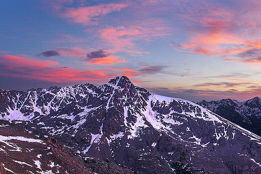 Sunset over Mt. of the Holy Cross by Aaron Spong