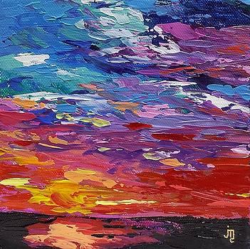 Sunset Over Ocean by J Travis Duncan