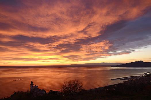 Sunset over Portofino by Andrea Gabrieli