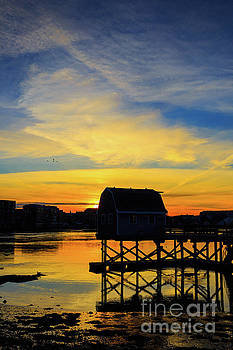 Sunset over Portsmouth New Hampshire by Edward Fielding
