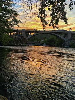 Sunset over Rogue River by Jen Lynn Arnold