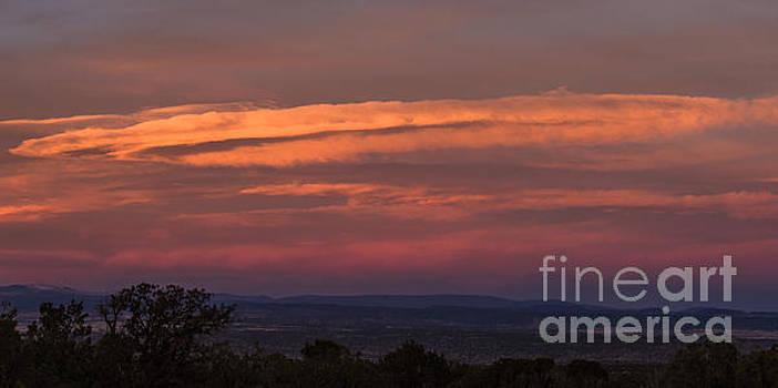 Sunset over Santa Fe by Steven Natanson