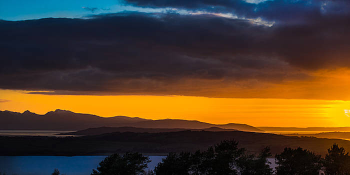 Sunset Over Scottish West Coast by Tylie Duff