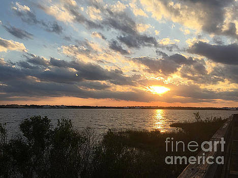 Sunset over St Johns River by Mitzisan Art LLC
